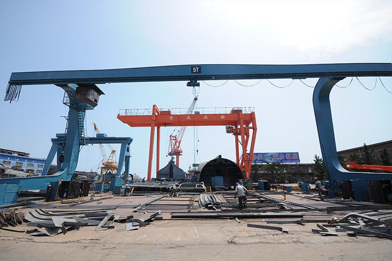 漁船分段制造現場