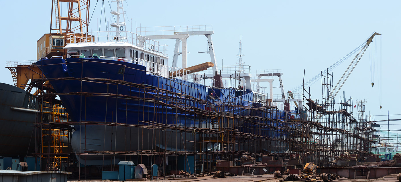 Building Site of Fishing Vessel